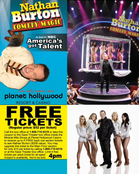 Nathan Burton Comedy Magic FREE Show Tickets Printable Coupon
