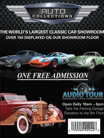 The Auto Collections at The Quad Las Vegas Free Admission Coupon