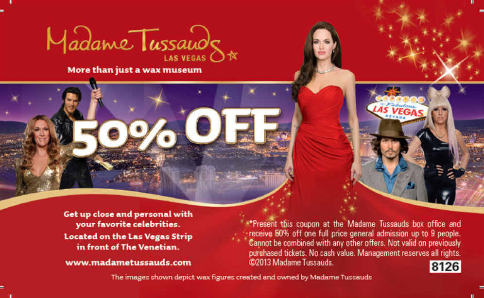 Madame Tussauds Las Vegas 50 Off Discount Tickets Just