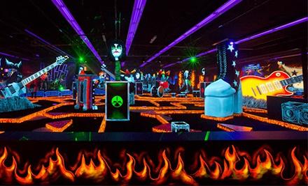 Monster Mini Golf KISSThemed Las Vegas For Four Passes Of - Children's birthday venues las vegas