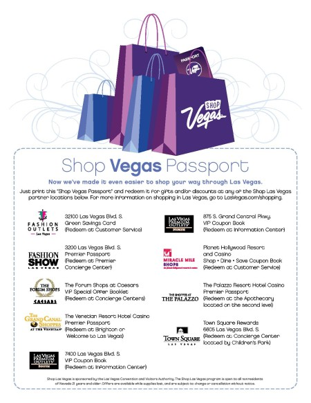 Free las vegas coupons