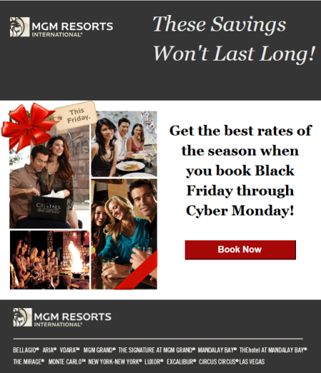 mgm resorts international las vegas black friday deals