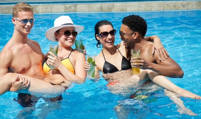 Go Pool At Flamingo Hotel 49 For Pool Access For 2 Or Vip Cabana Option With Bottle Service